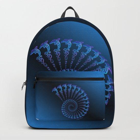 Tribal Dolphin Spiral Shell by artsytoocreations