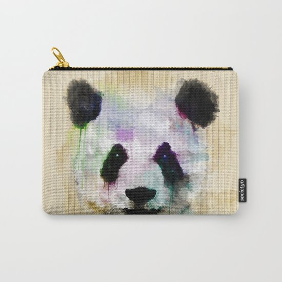 Panda Face - Watercolor Carry-All Pouch