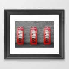 Phone Box Fun Framed Art Print
