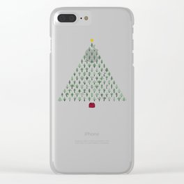 Christmas Treeangle Clear iPhone Case