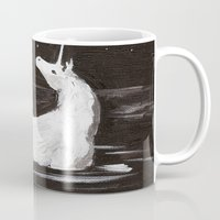 the last unicorn Mugs featuring The Last Unicorn by Alexandra Sutherland