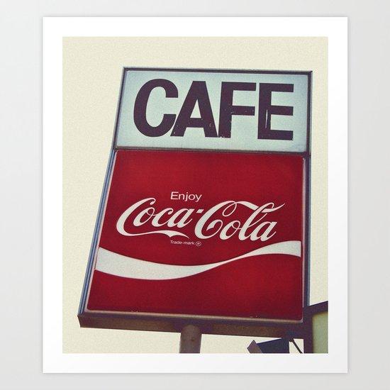 Coca-Cola Cafe Art Print