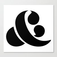 ampersand Canvas Prints featuring Ampersand by Andrei Robu