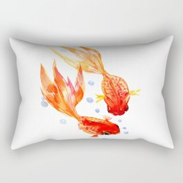 Goldfish Nursery Illustration Feng Shui Two Fish Art Rectangular Pillow