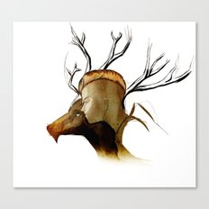 Lady and her Stag. Canvas Print