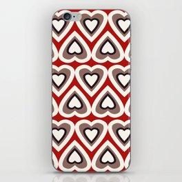 Strawberry and Chocolate Cream Love Hearts iPhone Skin