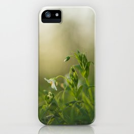 Alone in the grass iPhone Case