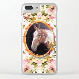 Paint Horse Clear iPhone Case