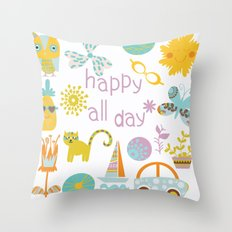 Abstract pattern 4v Throw Pillow