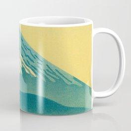 Japanese Woodblock Print Vintage Asian Art Colorful woodblock prints Mount Fuji Coffee Mug