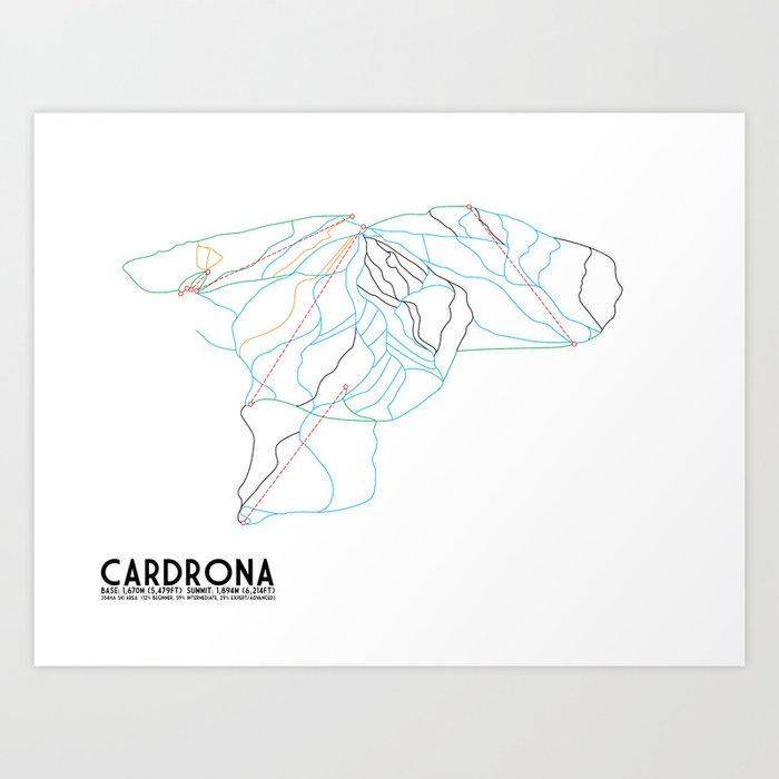 Cardrona, Wanaka, NZ - Minimalist Trail Art Art Print