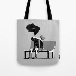 Robot Blues Tote Bag
