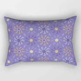 Flower Bloom Petals Vector Pattern Rectangular Pillow