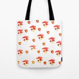Mushrooms and Acorns Tote Bag