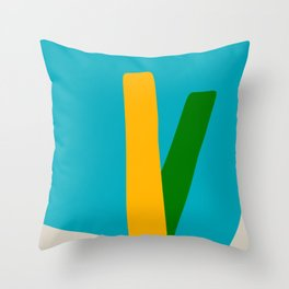 Mid Century Modern 9 Throw Pillow