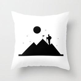 Rock Climbing - Mountain Climbing Throw Pillow