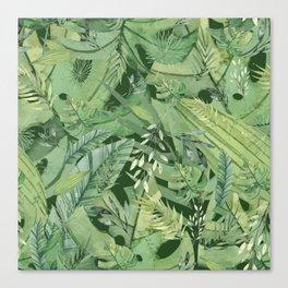 Green Tropical Palm Garden Jungle Island Canvas Print