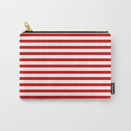 Red and White Stripes Carry-All Pouch