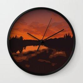 Nopiming Provincial Park Poster Wall Clock