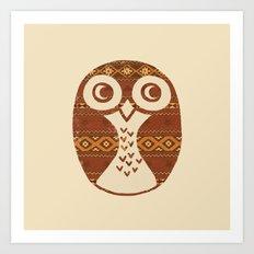 Navajo Owl  Art Print