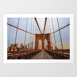 Brooklyn Bridge Sunrise Art Print