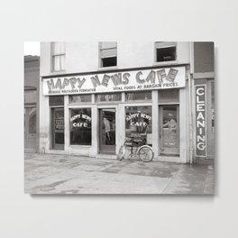 Happy News Cafe, 1938. Vintage Photo Metal Print
