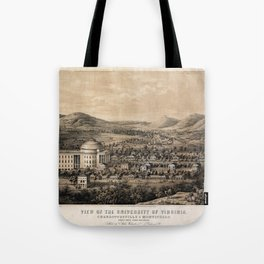University of Virginia, Charlottesville & Monticello (1856) Tote Bag