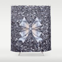silver Shower Curtains featuring Silver by Elena Indolfi