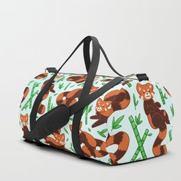 Red Panda Pattern Duffle Bag