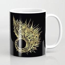 GOLDEN CURL - SHINING PAINTING ON BLACK BACKGROUND Coffee Mug