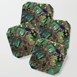 Oil Slick Abalone Mother Of Pearl Coaster