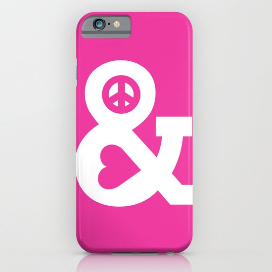 Peace and Love (pink edition) iPhone & iPod Case