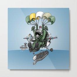 Naval Aviation Life Support Systems (ALSS) Parachute Rigger Cartoon Metal Print