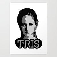 divergent Art Prints featuring Divergent: Tris by Flash Goat Industries