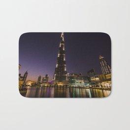 Burj khalifa at night Bath Mat