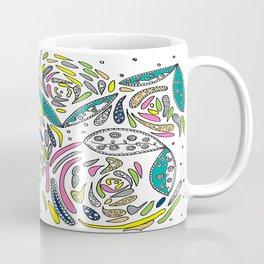 Stylish White Floral Coffee Mug