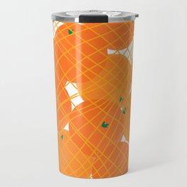 Tangerines Illustration Travel Mug
