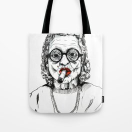 Woman with Cigar Tote Bag