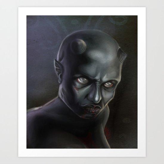 Demonoid Girl Portrait Art Print