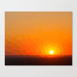 Polygonal Sunset Canvas Print