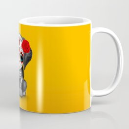 Cute Red Day of the Dead Puppy Dog Coffee Mug