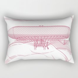 Airship 2, vector engraving Rectangular Pillow