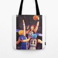 kuroko Tote Bags featuring Jump by AndytheLemon