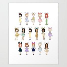 Princess Bounding Art Print