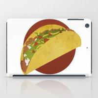 taco iPad Cases featuring Taco Art by RetroFresh