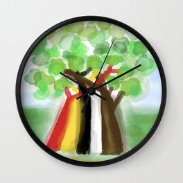 United Trees of Growth Wall Clock