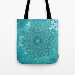 Ice Mandala Tote Bag