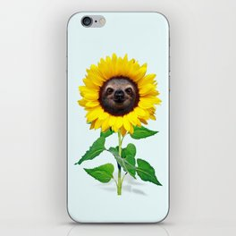 Slothflower iPhone Skin