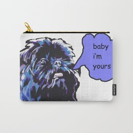 Fun Affenpinscher Portrait Dog bright colorful Pop Art by LEA Carry-All Pouch