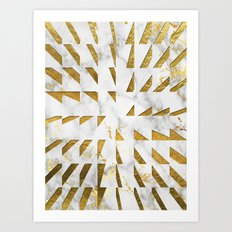 Marble and Gold Pattern #4 Art Print